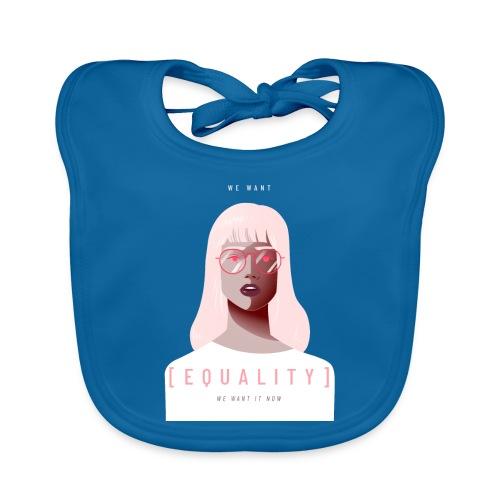 feminist t shirt design creator featuring - Babero de algodón orgánico para bebés