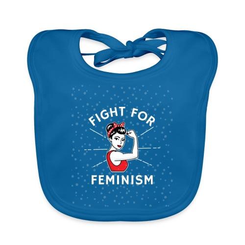 shirt designer feminism - Babero de algodón orgánico para bebés