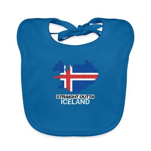 Straight Outta Iceland country map - Organic Baby Bibs