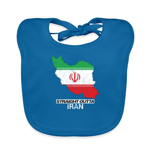 Straight Outta Iran country map & flag - Organic Baby Bibs