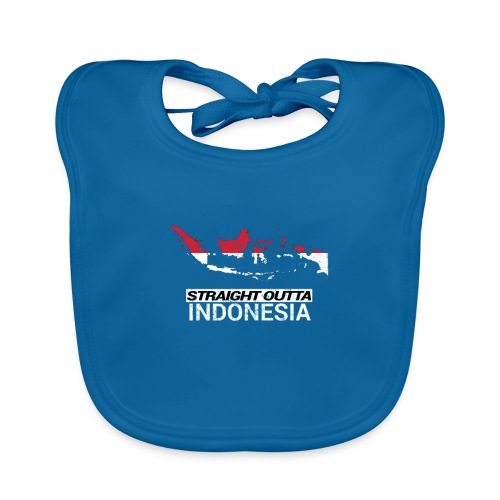 Straight Outta Indonesia country map & flag - Organic Baby Bibs