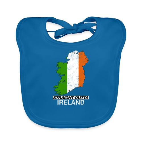 Straight Outta Ireland (Eire) country map flag - Organic Baby Bibs