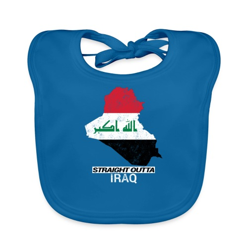 Straight Outta Iraq country map & flag - Organic Baby Bibs
