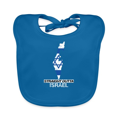 Straight Outta Israel country map & flag - Organic Baby Bibs