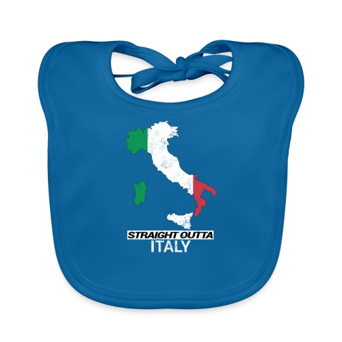 Straight Outta Italy (Italia) country map flag - Organic Baby Bibs