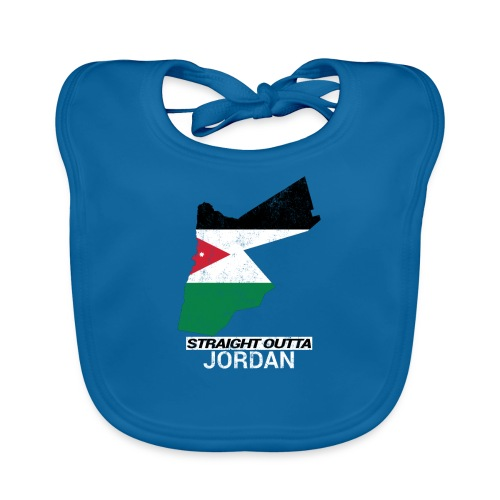 Straight Outta Jordan country map - Organic Baby Bibs