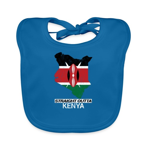 Straight Outta Kenya country map & flag - Organic Baby Bibs