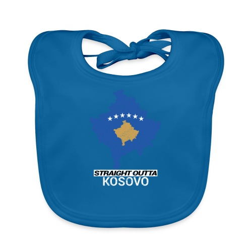 Straight Outta Kosovo country map - Organic Baby Bibs
