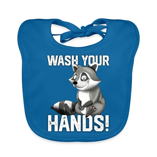 Wash Your Hands | Raccoon Lover | Wash Hand - Bavaglino ecologico per neonato