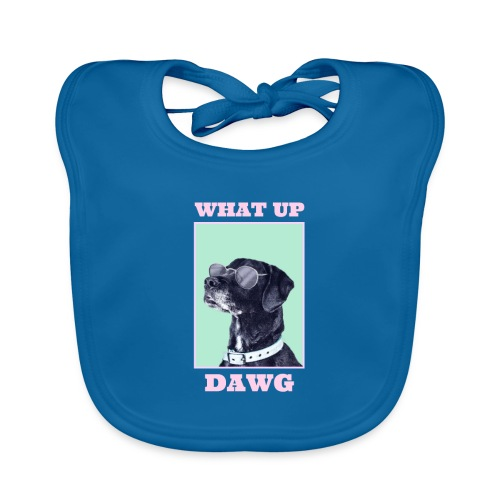 dog whatsup dogg - Ekologiczny śliniaczek