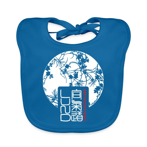 LAK pattern logo - Ekologisk babyhaklapp