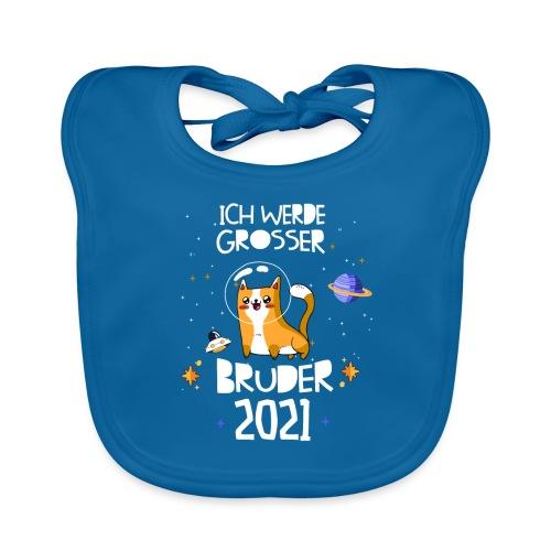 Großer Bruder 2021 Astronauten Katze Planeten - Baby Bio-Lätzchen