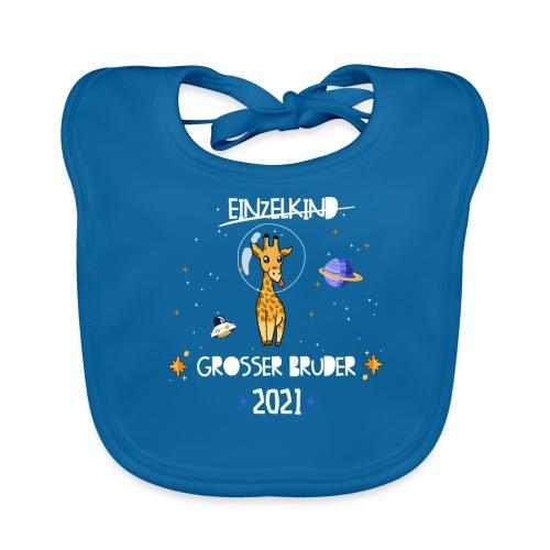 Großer Bruder 2021 Astronauten Giraffe Planeten - Baby Bio-Lätzchen