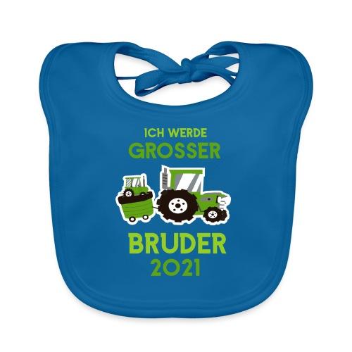 Großer Bruder 2021 Traktor und Baby - Baby Bio-Lätzchen