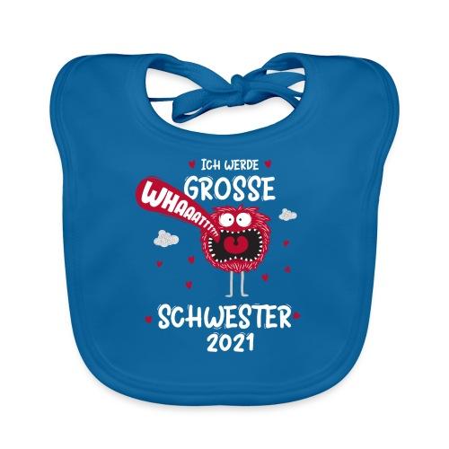 Großer Bruder 2021 lustiges Monster - Baby Bio-Lätzchen
