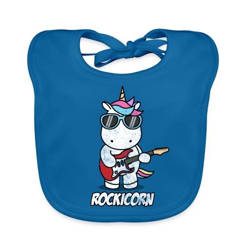 Rockicorn Rock n Roll Unicorn Einhorn Geschenkidee - Baby Bio-Lätzchen