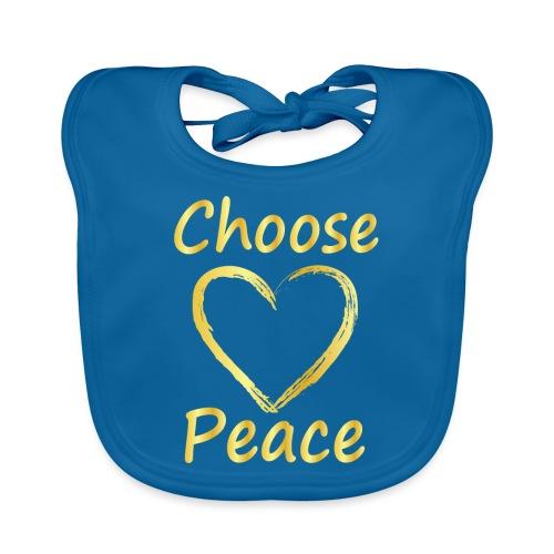 Choose Peace - Organic Baby Bibs