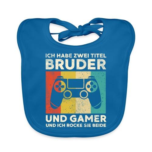 Bruder Gamer Gaming Junge Geschenk Sohn - Baby Bio-Lätzchen
