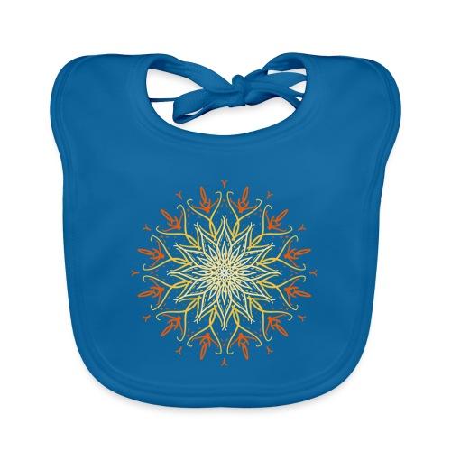 Mandala of fire - Baby Organic Bib