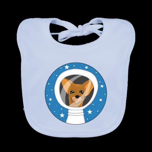 Fifi der Hunde Astronaut im Weltall - Baby Bio-Lätzchen