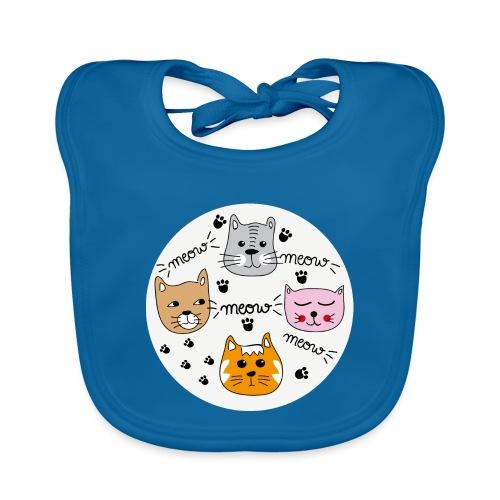 Miau Meow Katzen Cats - Baby Bio-Lätzchen