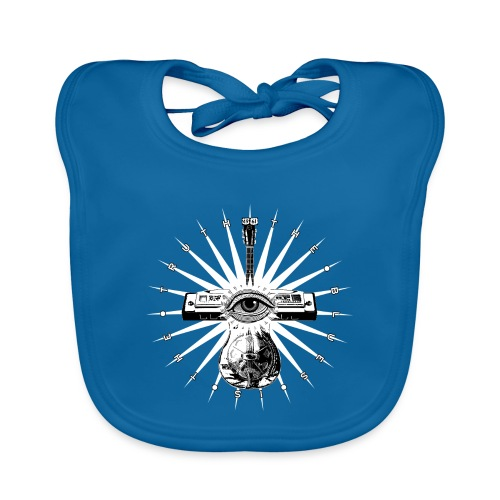 Blues Is The Truth - white star - Baby Organic Bib