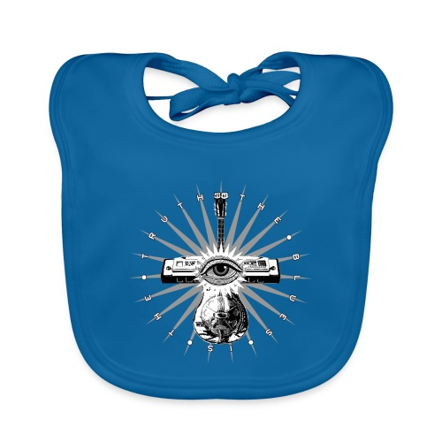 Blues Is The Truth - grey star - Organic Baby Bibs