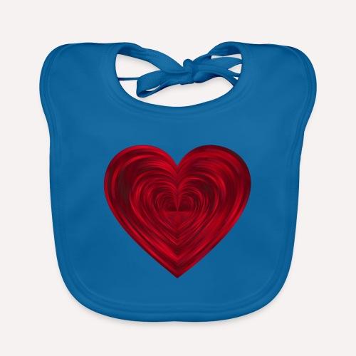 Love Heart Print T-shirt design - Baby Organic Bib