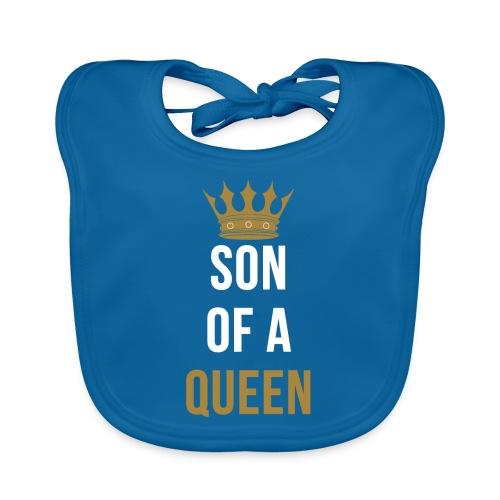 Son of a Queen Mutter Sohn Partnerlook - Baby Bio-Lätzchen