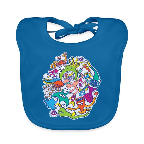 Swimming in summer with dangerous marine beings - Organic Baby Bibs