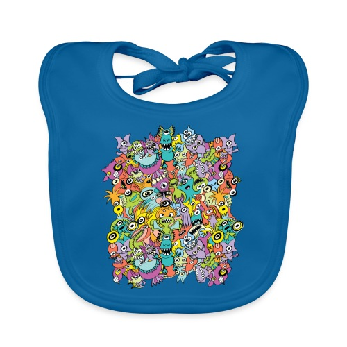 Crowd of aliens poses for a masterpiece - Organic Baby Bibs