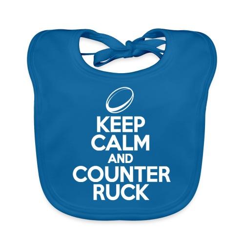 Keep Calm & Counter Ruck - Baby Organic Bib