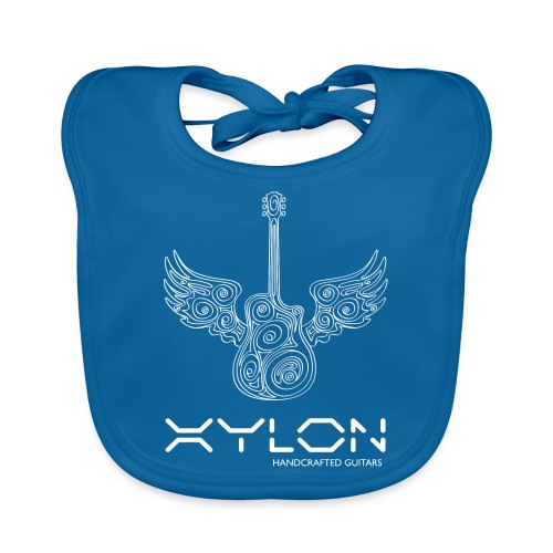 Xylon Guitars Premium T-shirt (white design) - Baby Organic Bib