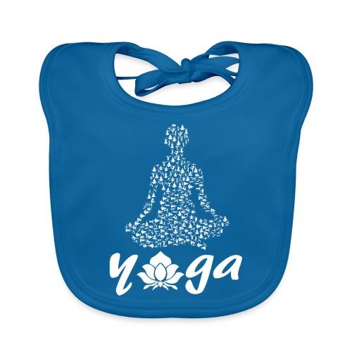 yoga fiore bianco namaste pace amore hippie fitness - Bavaglino ecologico per neonato