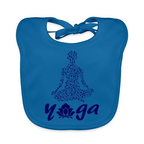 yoga fiore namaste pace amore hippie arte fitness - Bavaglino ecologico per neonato