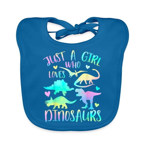 Just a girl who loves dinosaurs - Bio-slabbetje voor baby's