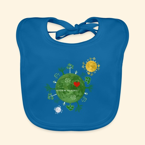 Trees on Green Planet with Sun Moon - Bio-slabbetje voor baby's