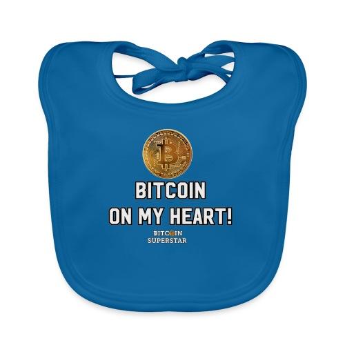 Bitcoin on my heart! - Bavaglino ecologico per neonato
