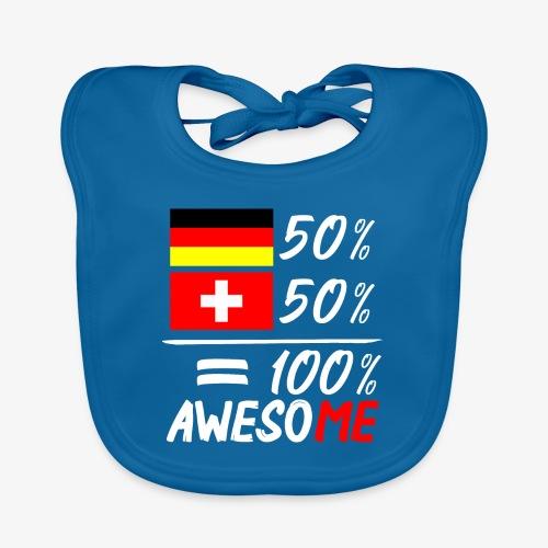 50% Deutsch 50% Schweiz - Baby Bio-Lätzchen