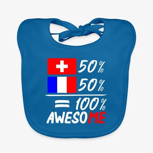 50% Schweiz 50% Frankreich - Baby Bio-Lätzchen