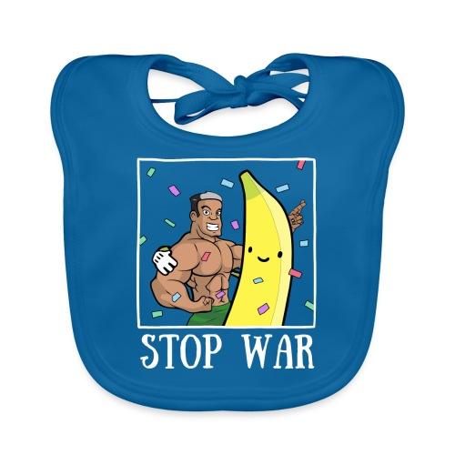 Stop War Banane Musculation - Bavoir bio Bébé