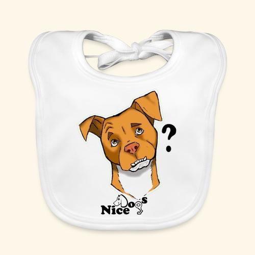 Nice Dogs pitbull 2 - Bavaglino ecologico per neonato