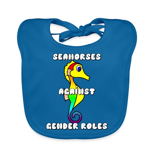 Seahorses against gender roles - Baby Organic Bib