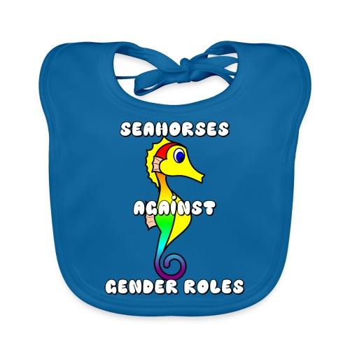 Seahorses against gender roles - Organic Baby Bibs