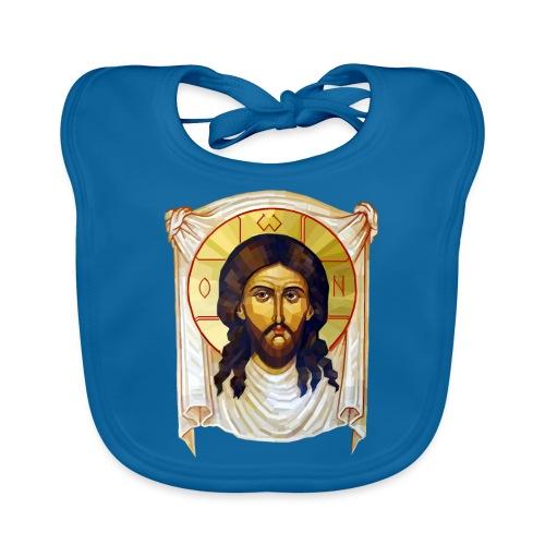 Low-Poly Jesus Icon - Baby Organic Bib