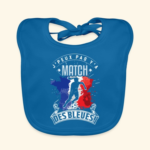 Les Bleues FOOTBALLEUSE - Equipe de France féminin - Bavoir bio Bébé