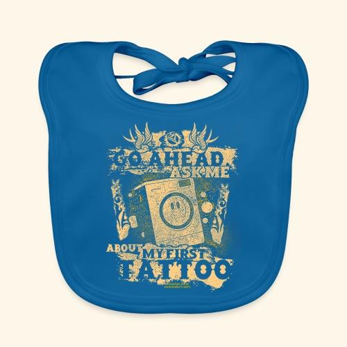 Geek T Shirt Tattoo Waschmachine - Baby Bio-Lätzchen