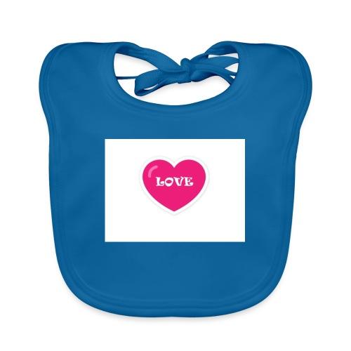 Spread shirt hjärta love - Ekologisk babyhaklapp