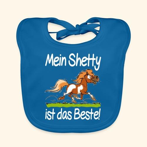Mein Shetty ist das Beste (Text Weiss) - Bavoir bio Bébé