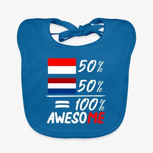 50% Nederland 50% Indonesië - Baby Bio-Lätzchen